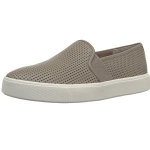 VINCE Blair Perforated Leather Slip On Sneakers
